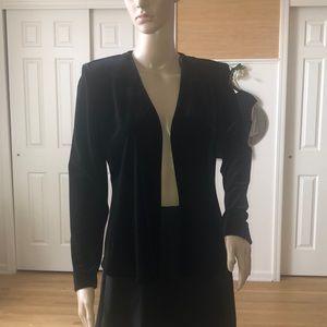Alex evenings - black velvet blazer
